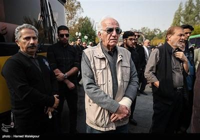 رضا بنفشهخواه در مراسم تشییع پیکر زندهیاد بیژن علیمحمدی