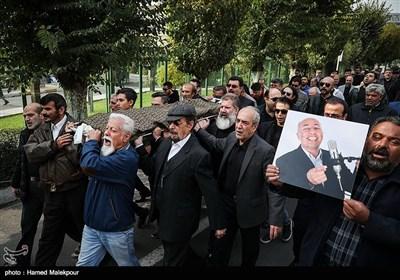 تشییع پیکر زندهیاد بیژن علیمحمدی دوبلور پیشکسوت