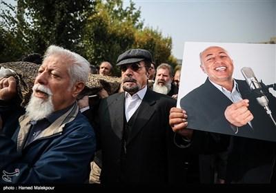 داوود نماینده در مراسم تشییع پیکر زندهیاد بیژن علیمحمدی