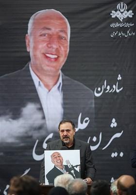 سخنرانی حمیدرضا آشتیانیپور در مراسم تشییع پیکر زندهیاد بیژن علیمحمدی