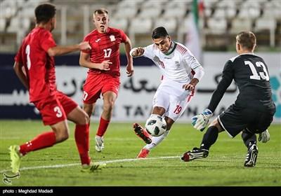دیدار تیمهای ملی فوتبال جوانان ایران و قرقیزستان