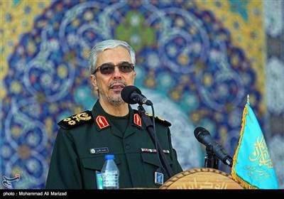 سخنرانی سرلشکر باقری رئیس ستاد کل نیروهای مسلح در صبحگاه مشترک نیروهای مسلح در مسجد مقدس جمکران