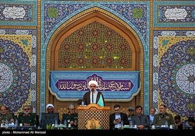 سخنرانی حجتالاسلاموالمسلمین رحیمیان تولیت مسجد مقدس جمکران در صبحگاه مشترک نیروهای مسلح با عنوان عهد سربازی