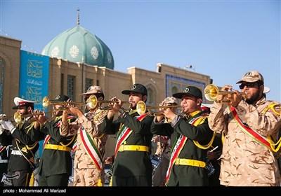 صبحگاه مشترک نیروهای مسلح در مسجد مقدس جمکران
