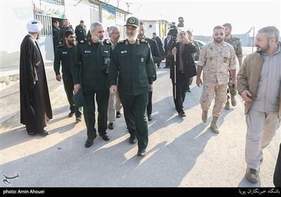 بازدید سردار حسین سلامی فرمانده کل سپاه از اردوگاه شهید زیادیان
