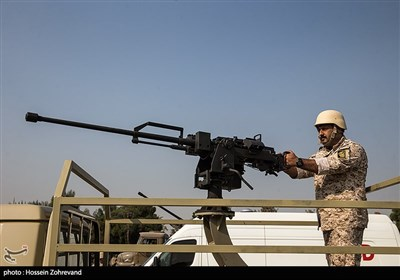 یکی از اعضای یگان ویژه فاتحین سپاه محمد رسول الله ص تهران بزرگ