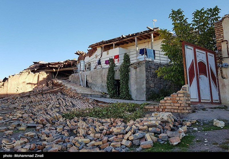 """خسارات زلزله در """"میانه"""" _ آذربایجان شرقی"""