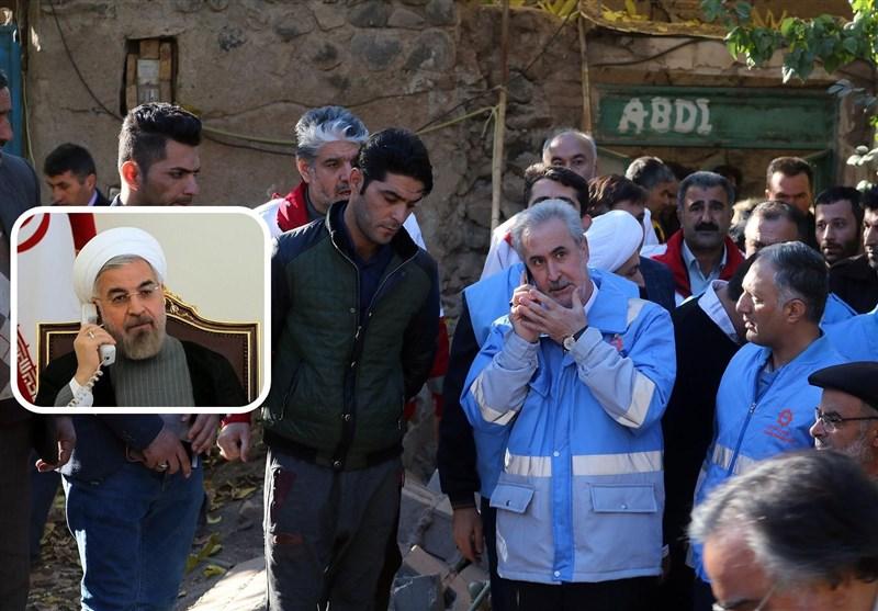 جزئیات تماس تلفنی رئیس جمهور با استاندار آذربایجان شرقی / تسلیت روحانی در پی جان باختن 5 نفر