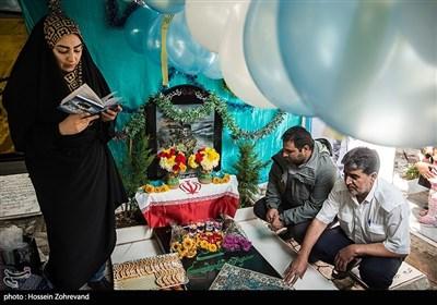 چهارمین سالگرد شهادت و جشن تولد 24 سالگی جوان ترین شهید مدافع حرم ایرانی سید مصطفی موسوی