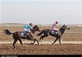 سومین دوره مسابقات کورس اسبدوانی در قشم برگزار شد + فیلم