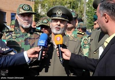 امیر سرلشکر سید عبدالرحیم موسوی فرماندهکل ارتش در جمع خبرنگاران