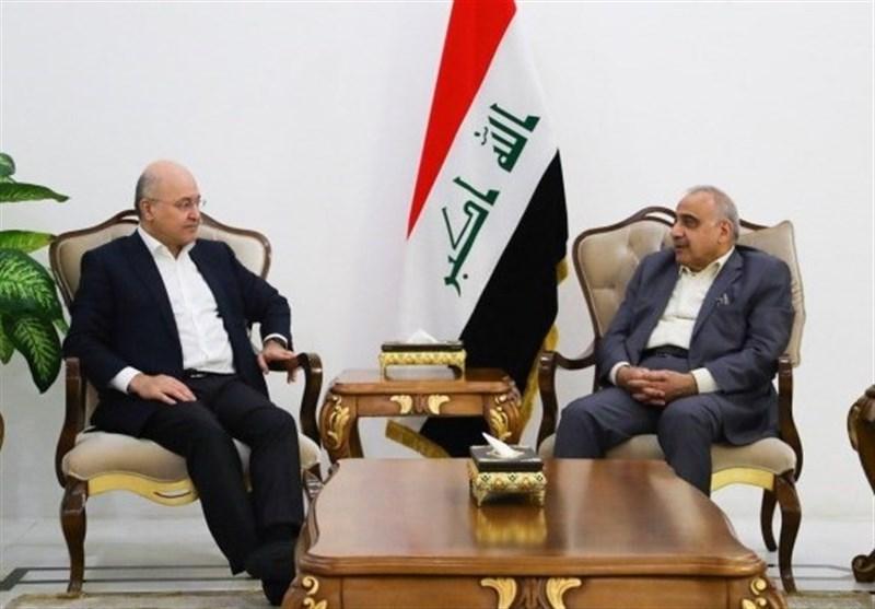 عبد المهدی وصالح یبحثان دعم الإجراءات الإصلاحیة إستجابة لمطالب المتظاهرین