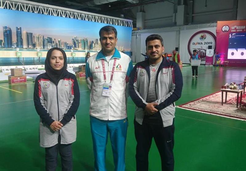 تیراندازی قهرمانی آسیا  مدال برنز برای تیم تپانچه میکس ایران