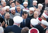 شام کے صدر کی عید میلاد النبی (ص) کے جشن میں شرکت + تصاویر