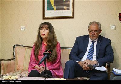 رومینا راموس سفیر بولیوی در تهران الکسیس و باندریج وگا سفیر کوبا در تهران