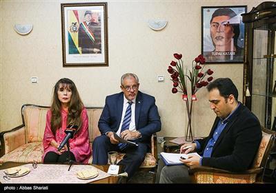 نشست خبری خانم «رومینا گوادالوپه پرز راموس» سفیر بولیوی در تهران