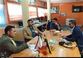 مدیرکل تعزیرات حکومتی خوزستان از دفتر تسنیم در اهواز بازدید کرد + تصاویر