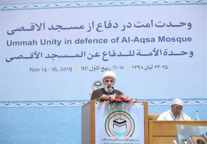 """الشیخ نعیم قاسم : """"تحریر فلسطین طریقه المقاومة واحقاق الحق طریقه الوحدة"""""""