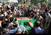 مازندران| پیکر شهید مدافع امنیت نکایی در زادگاهش آرام گرفت