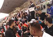 حاشیه دیدار عراق - ایران  دیدار پرسپولیسیها با بشار/ حضور یکی از اعضای هیئت رئیسه در ورزشگاه + عکس