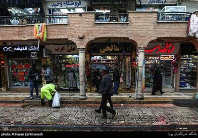 بازار تهران-بارش برف در تهران