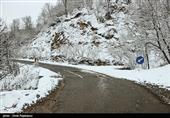 بارش برف در جادههای 4 استان