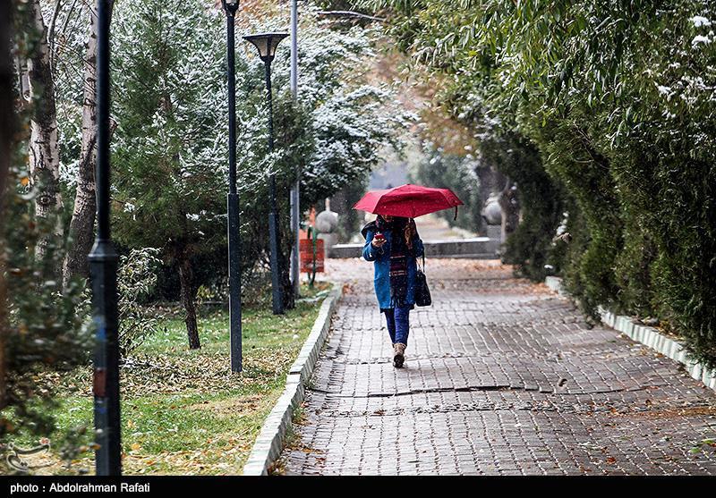 هواشناسی ایران ۹۹/۹/۱۵| بارش برف و باران در ۳۰ استان,