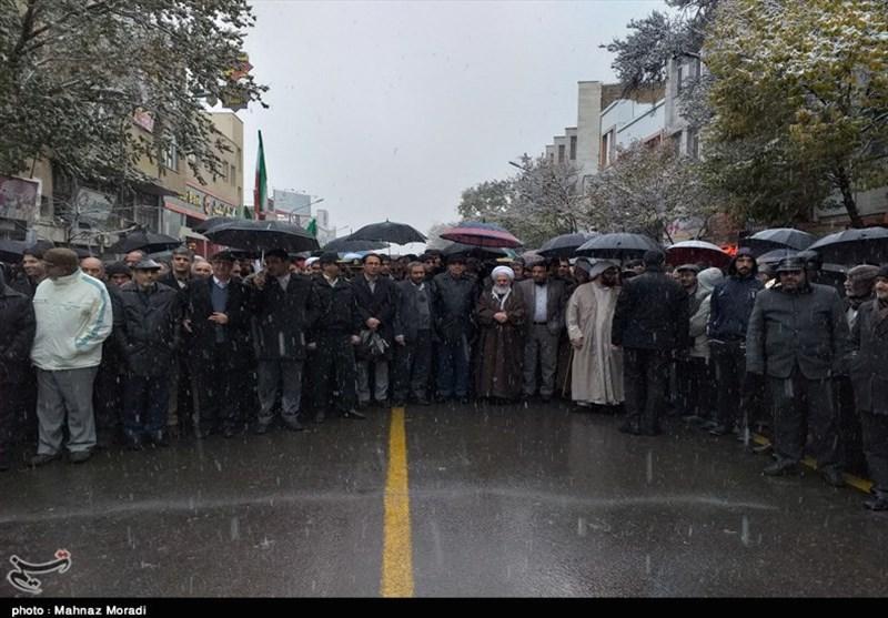 راهپیمایی خودجوش مردم زنجان علیه هنجارشکنان + تصاویر
