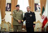 دیدار ژنرال قمر جاوید باجوا فرمانده ارتش پاکستان با علی شمخانی دبیر شورای عالی امنیت ملی