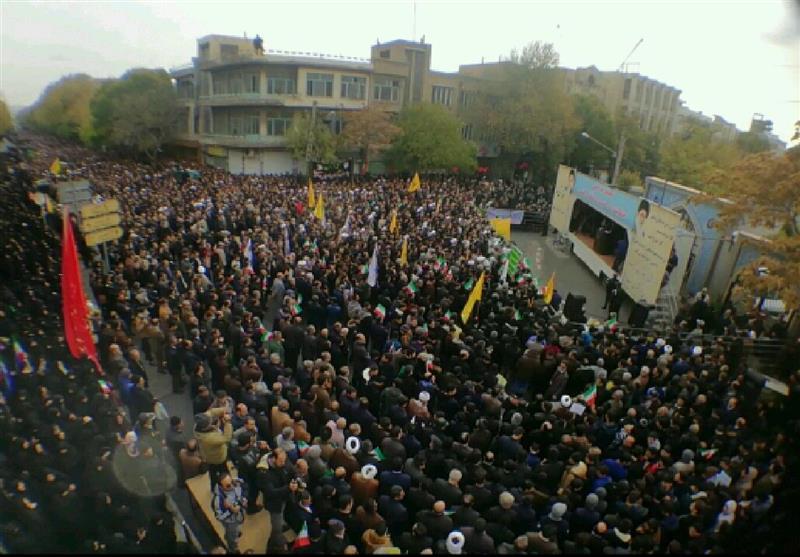 راهپیمایی باشکوه مردم تبریز علیه آشوبگران / فریاد همبستگی مردم در محکومیت اغتشاشگران + تصاویر