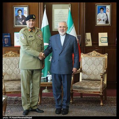 دیدار فرمانده ارتش پاکستان با محمدجواد ظریف