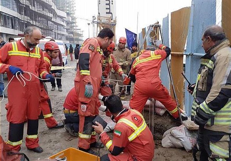 سقوط مرگبار کارگر به چاه 30 متری + تصاویر