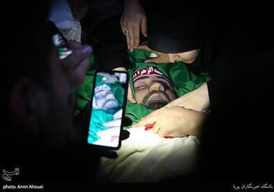 وداع با پیکر شهید مرتضی ابراهیمی مدافع امنیت که در حوادث اخیر تهران به شهادت رسیدند