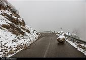 بارش برف در جادههای 4 استان/ لغزنده بودن برخی محورهای مواصلاتی