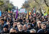 راهپیمایی باشکوه مردم با بصیرت شهرستانهای اصفهان در واکنش به اغتشاشات اخیر + فیلم