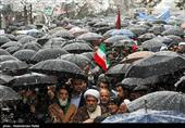 قیام مردم دیار الوند علیه اغتشاشگران در روز برفی همدان + فیلم