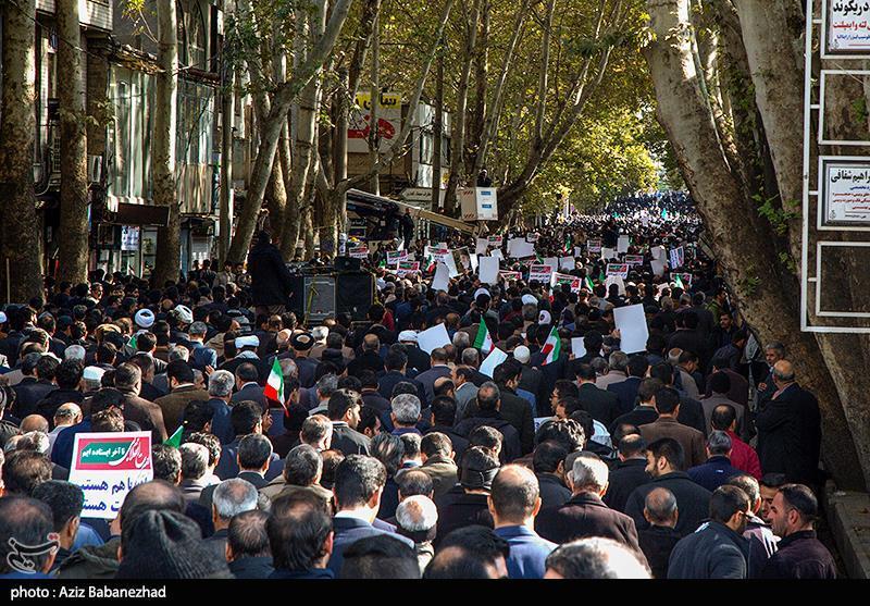مردم شهرستانهای استان تهران اقدامات هنجارشکنانه اغتشاشگران را محکوم میکنند + زمان راهپیمایی
