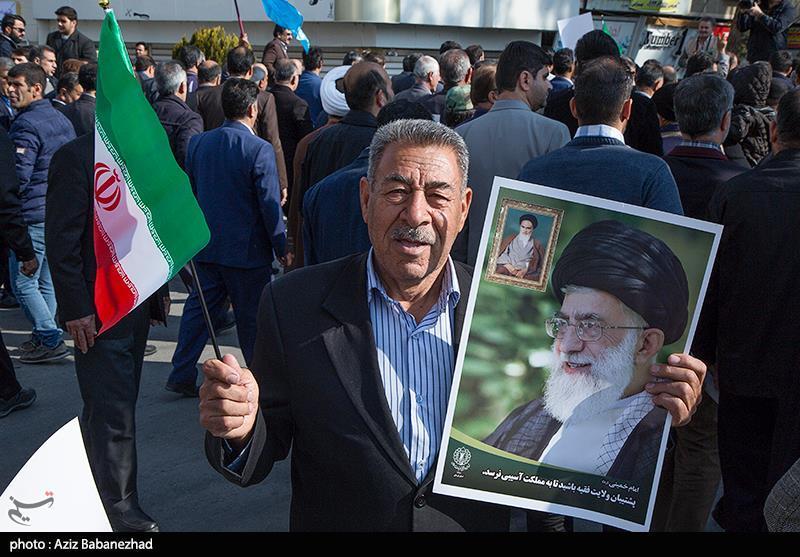 ایرانی عوام شرپسند عناصر کے خلاف سراپا احتجاج+ تصاویر