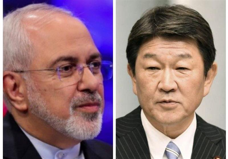 ایرانی وزیرخارجہ کا جاپانی ہم منصب سے ٹیلیفونک رابطہ/ دوطرفہ تعلقات پر تبادلہ خیال