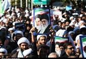 حضور انقلابی مردم قم در راهپیمایی اعلام انزجار علیه اغتشاشگران + تصاویر