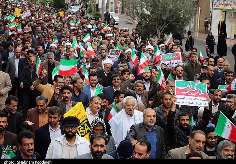 حماسهای ماندگار در تاریخ سیستان و بلوچستان / راهپیمایی باشکوه مردم زاهدان در محکومیت اغتشاشگران + تصاویر