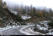بارش برف و باران در جادههای 3 استان/تردد روان در محورهای شمالی