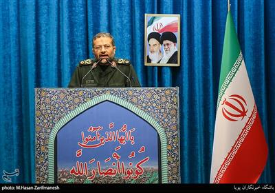 سردار غلامرضا سلیمانی رئیس سازمان بسیج مستضعفین سخنران پیش از خطبههای نماز جمعه تهران