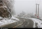 برف و باران در جادههای 4 استان