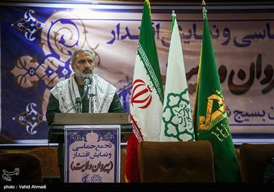 سخنرانی سردار یزدی فرمانده سپاه محمد رسول الله (ص) تهران بزرگ در مراسم اجتماع گردان های بسیج شهرداری تهران