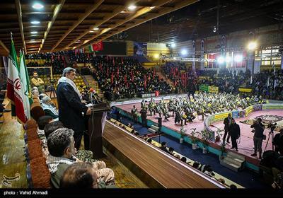 سخنرانی پیروز حناچی شهردار تهران در مراسم اجتماع گردان های بسیج شهرداری تهران