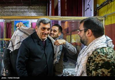 پیروز حناچی شهردار تهران در مراسم اجتماع گردان های بسیج شهرداری تهران