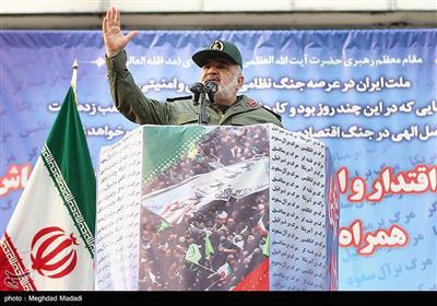سخنرانی سردار سلامی فرمانده کل سپاه در راهپیمایی حمایت از اقتدار و امنیت تهران