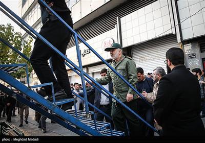 سردار سلامی فرمانده کل سپاه در راهپیمایی حمایت از اقتدار و امنیت تهران