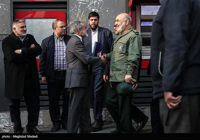 سرلشکر حسین سلامی فرمانده کل سپاه در راهپیمایی حمایت از اقتدار و امنیت - تهران